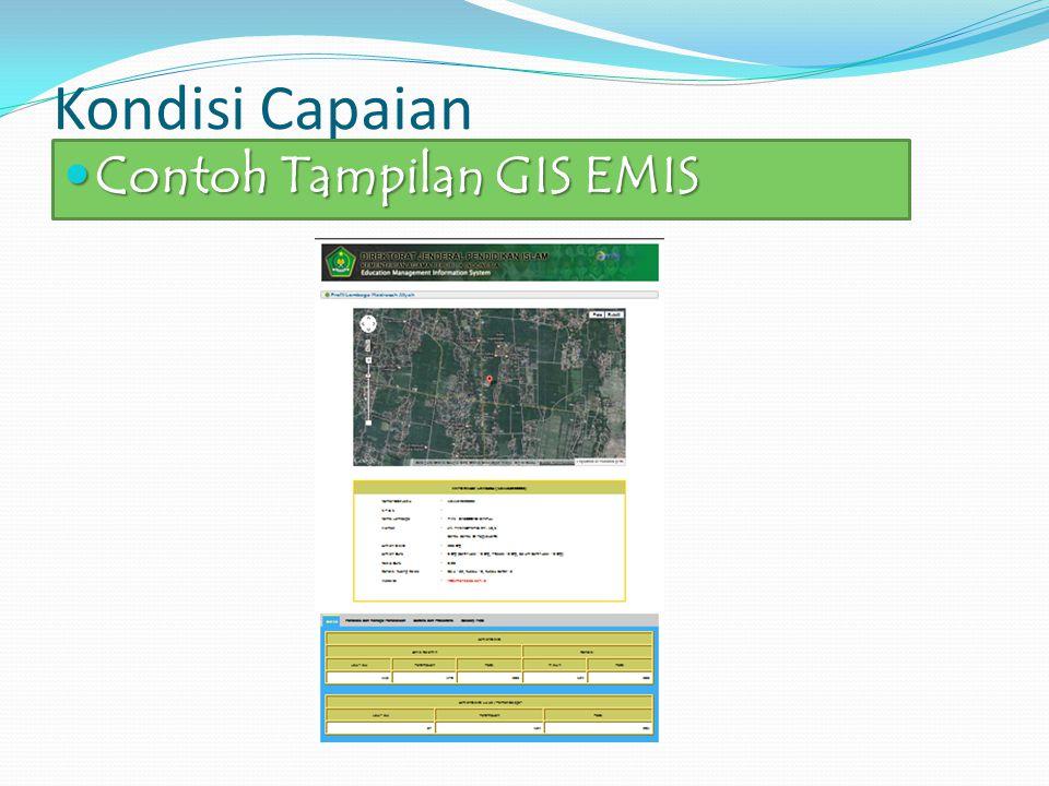 Kondisi Capaian Contoh Tampilan GIS EMIS