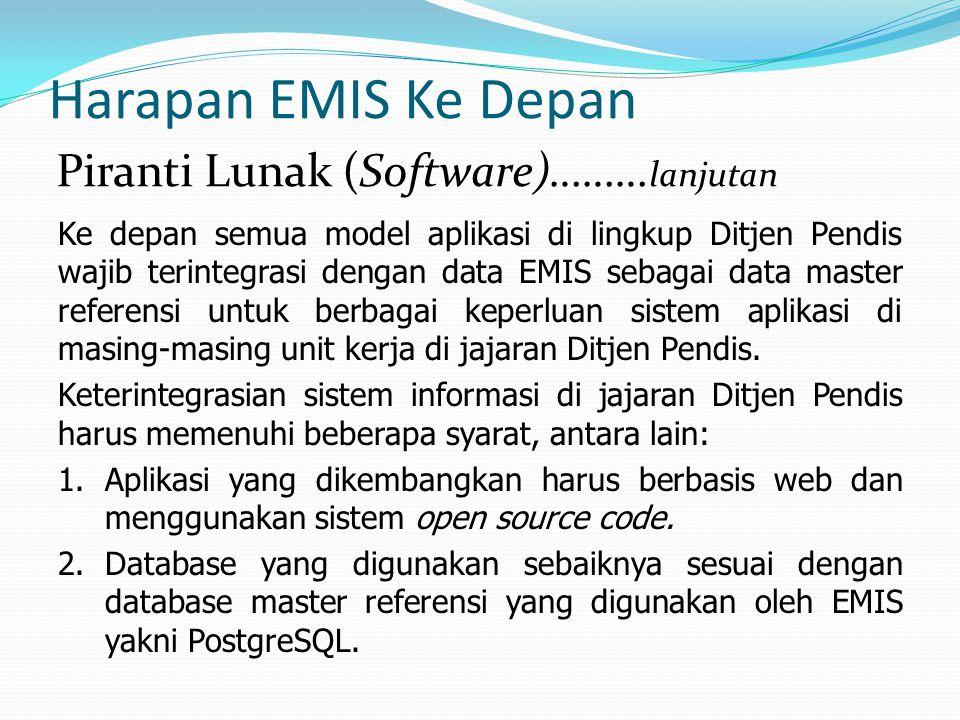 Harapan EMIS Ke Depan Piranti Lunak (Software)………lanjutan
