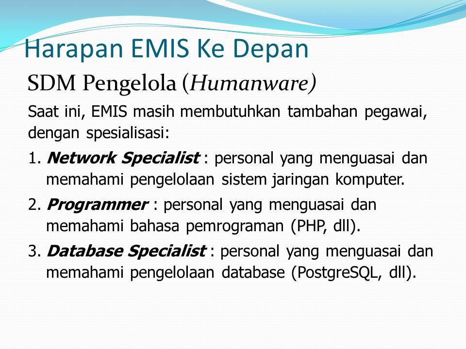 Harapan EMIS Ke Depan SDM Pengelola (Humanware)