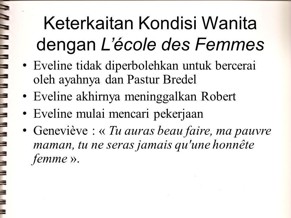 Keterkaitan Kondisi Wanita dengan L'école des Femmes