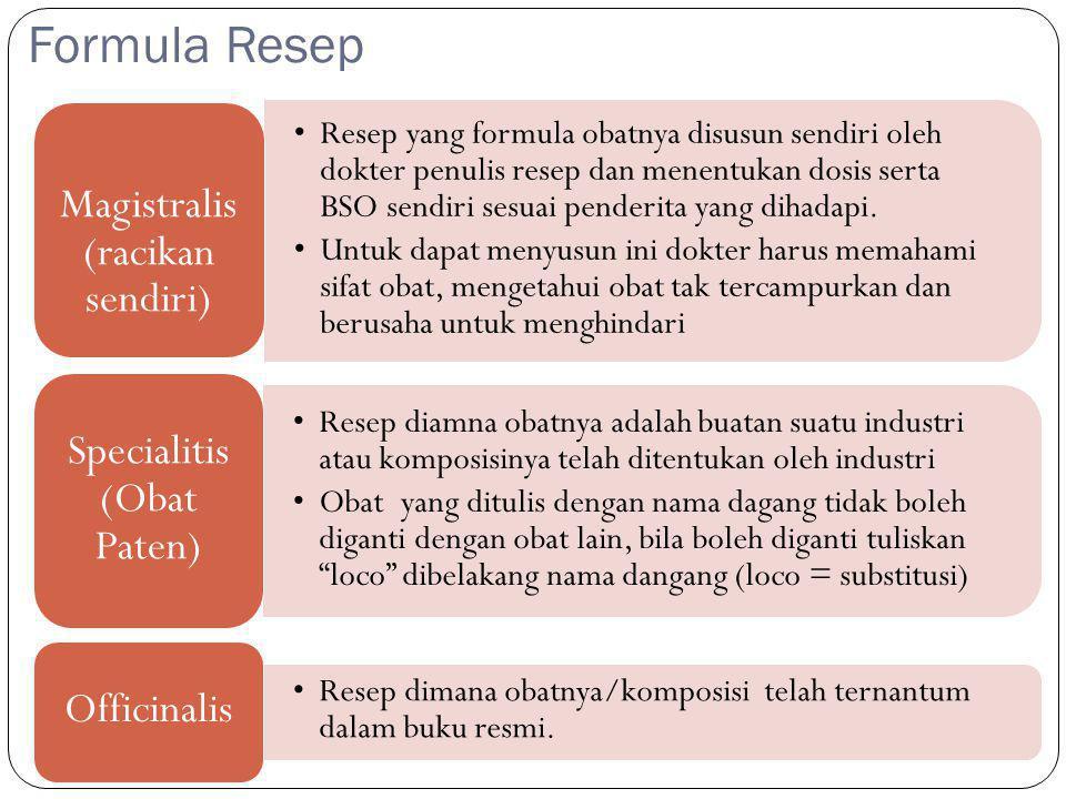Formula Resep Magistralis (racikan sendiri)