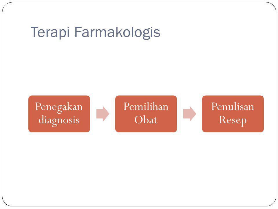 Terapi Farmakologis Penegakan diagnosis Pemilihan Obat Penulisan Resep