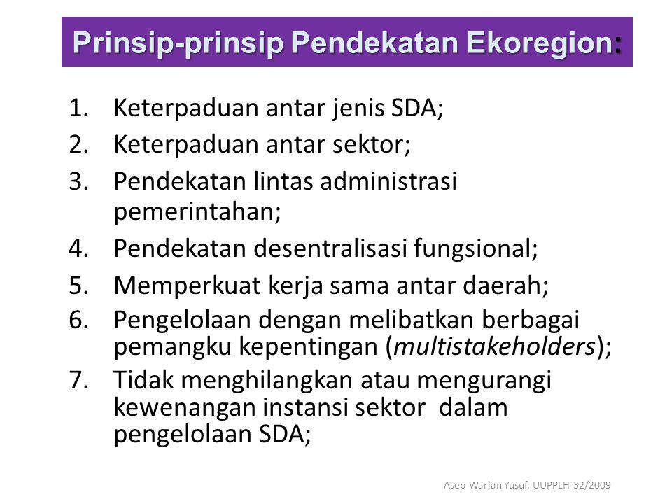 Prinsip-prinsip Pendekatan Ekoregion: