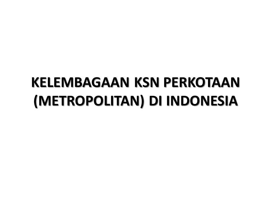 KELEMBAGAAN KSN PERKOTAAN (METROPOLITAN) DI INDONESIA