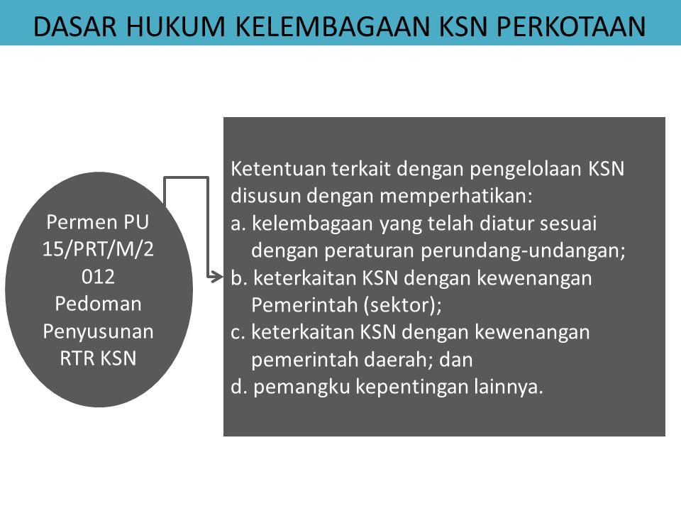 Permen PU 15/PRT/M/2012 Pedoman Penyusunan RTR KSN