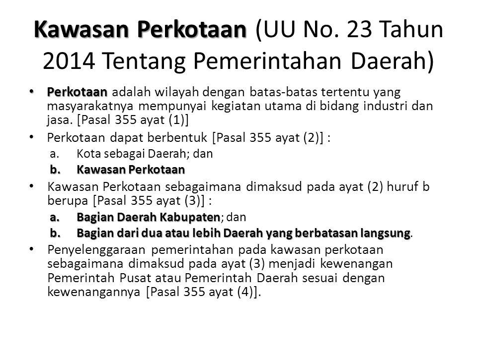 Kawasan Perkotaan (UU No. 23 Tahun 2014 Tentang Pemerintahan Daerah)