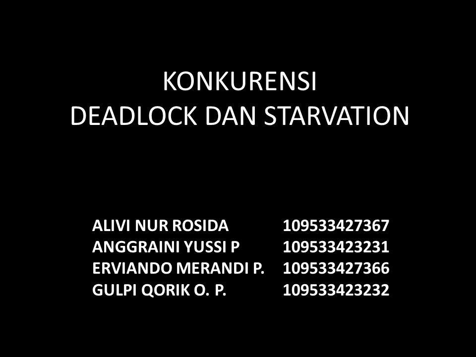KONKURENSI DEADLOCK DAN STARVATION