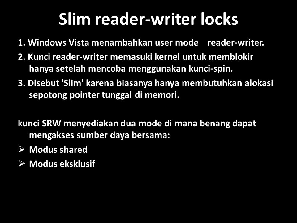 Slim reader-writer locks
