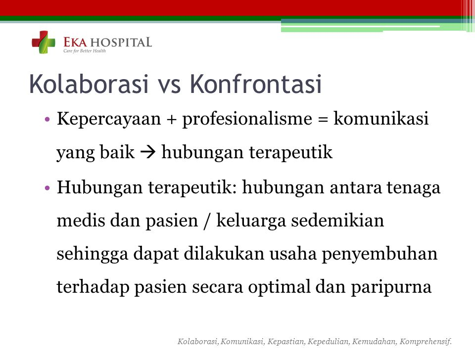Kolaborasi vs Konfrontasi