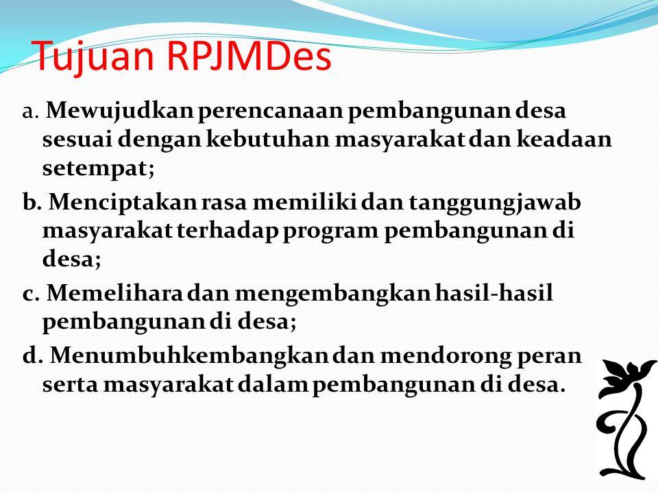 Tujuan RPJMDes