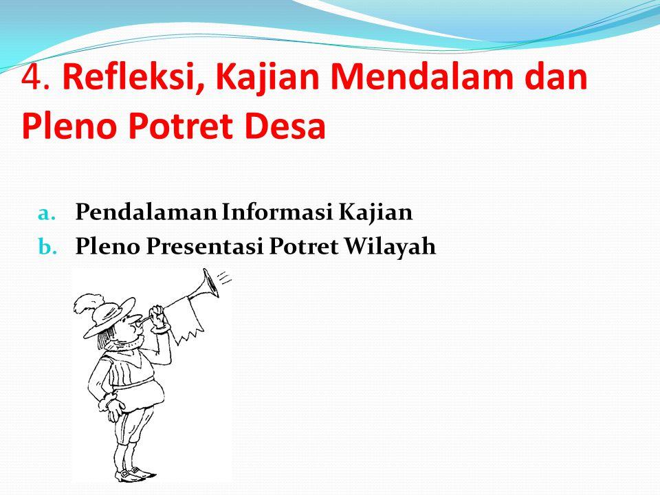 4. Refleksi, Kajian Mendalam dan Pleno Potret Desa
