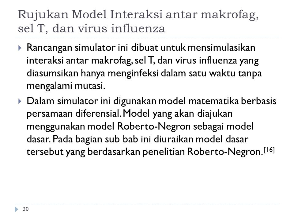 Rujukan Model Interaksi antar makrofag, sel T, dan virus influenza