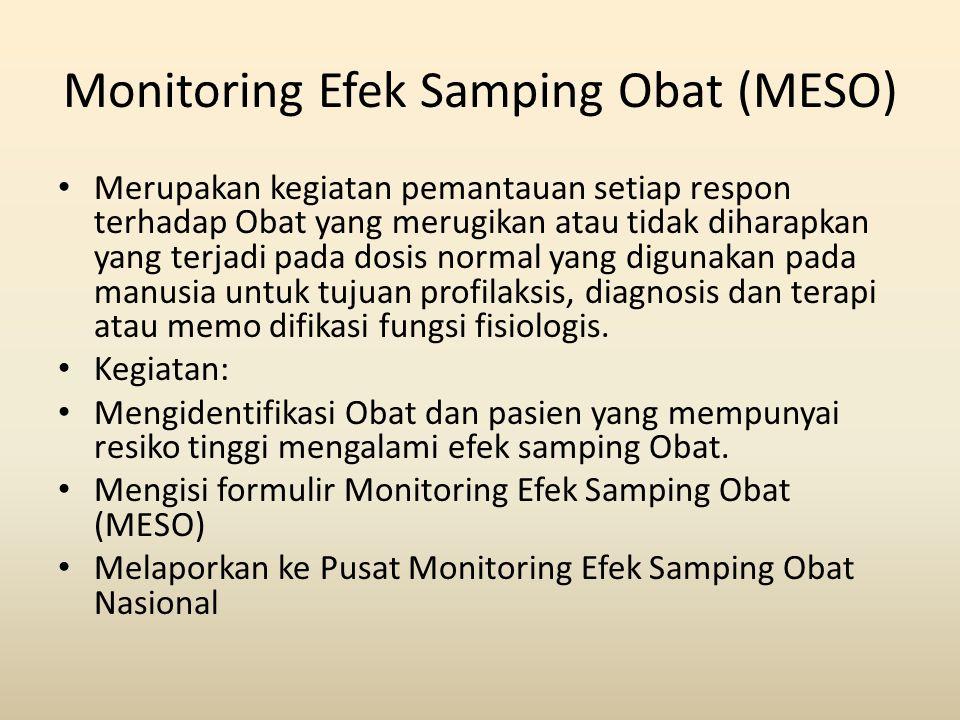 Monitoring Efek Samping Obat (MESO)