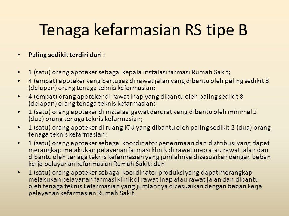 Tenaga kefarmasian RS tipe B