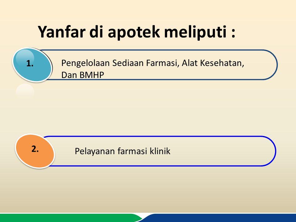 Yanfar di apotek meliputi :
