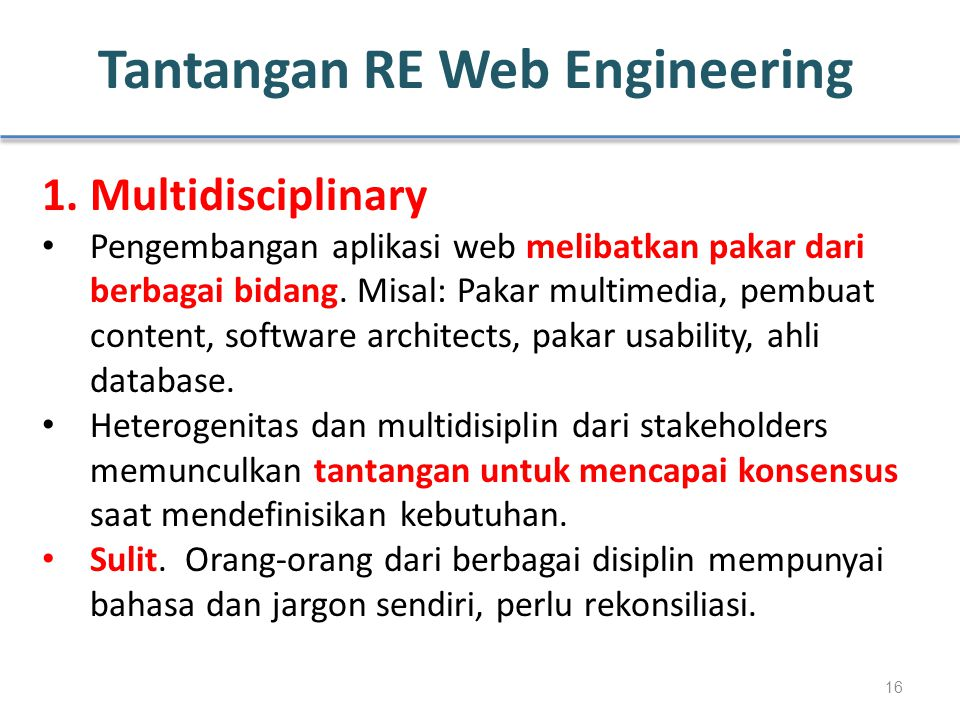 Tantangan RE Web Engineering