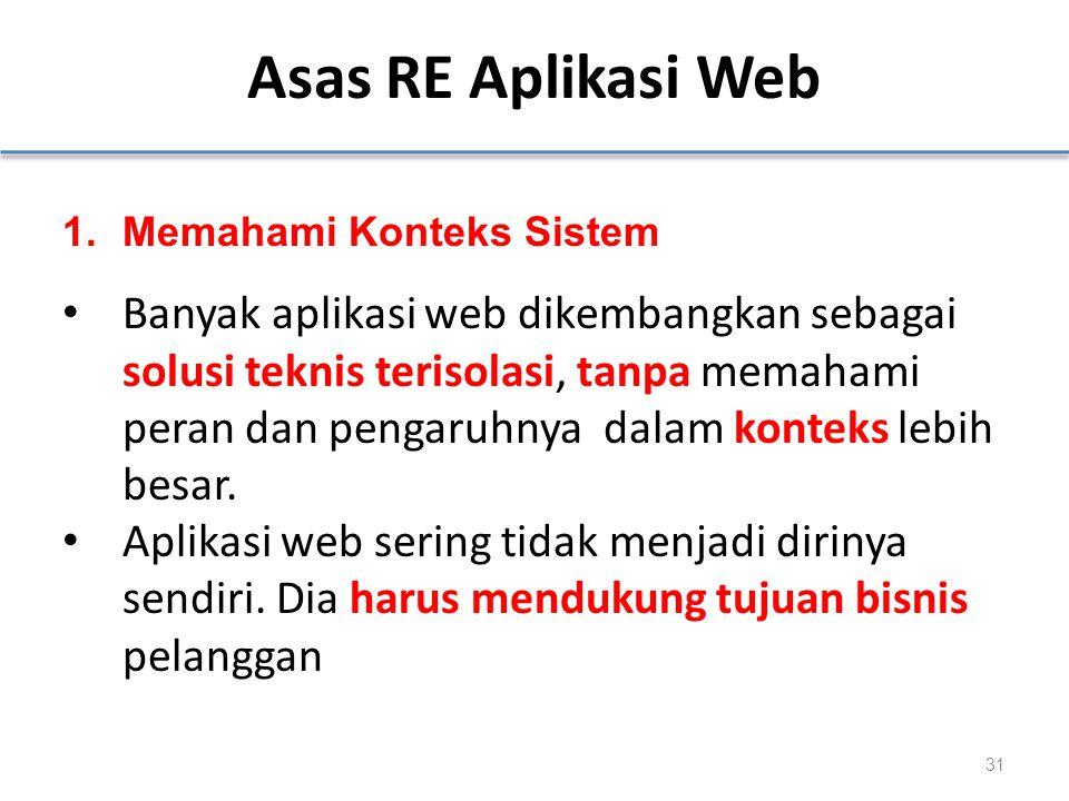 Asas RE Aplikasi Web Memahami Konteks Sistem.