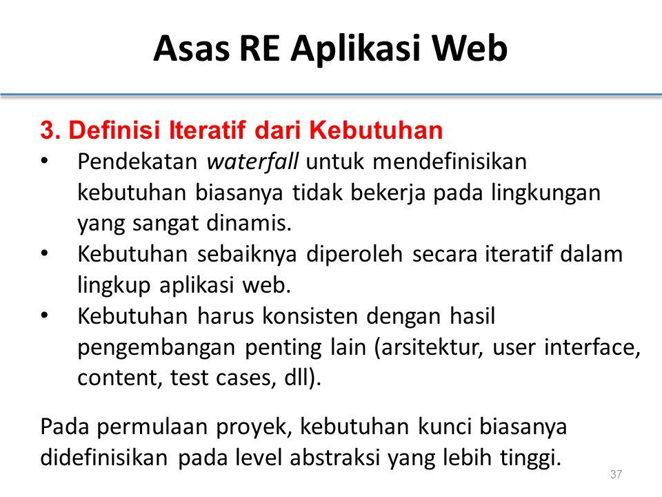 Asas RE Aplikasi Web 3. Definisi Iteratif dari Kebutuhan