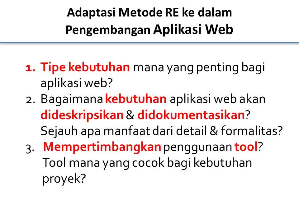 Adaptasi Metode RE ke dalam Pengembangan Aplikasi Web