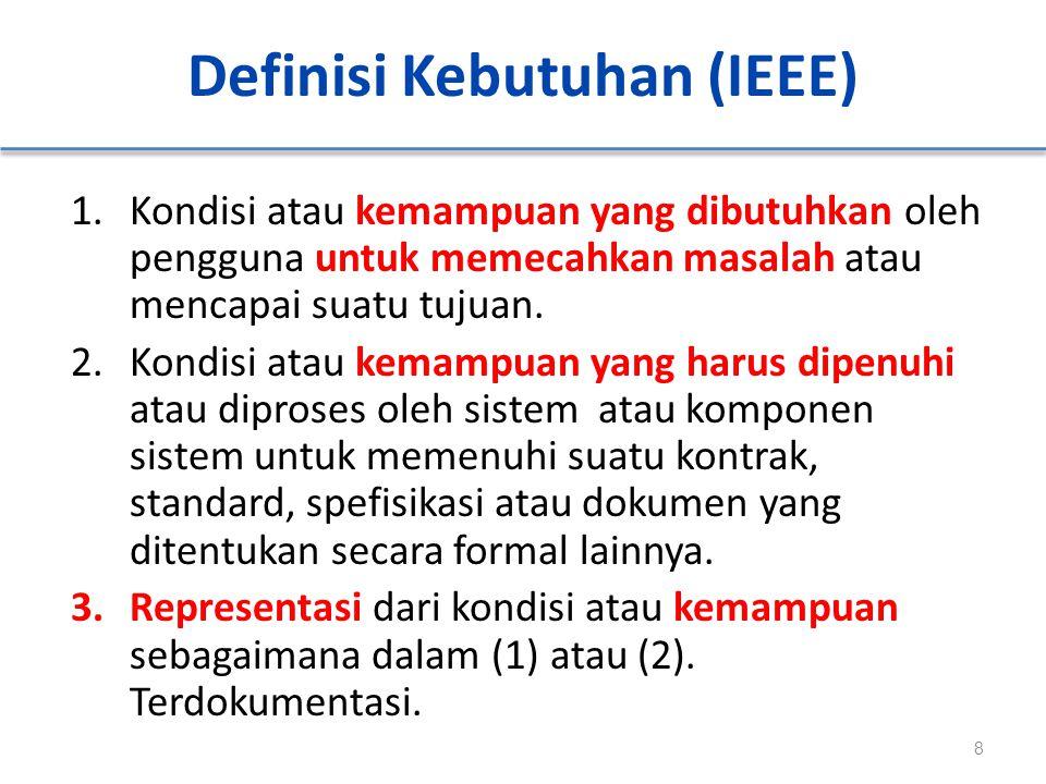 Definisi Kebutuhan (IEEE)