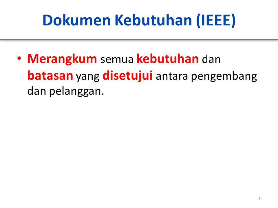 Dokumen Kebutuhan (IEEE)
