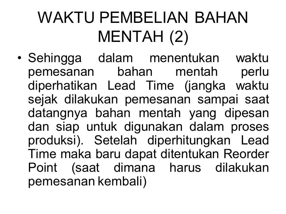 WAKTU PEMBELIAN BAHAN MENTAH (2)