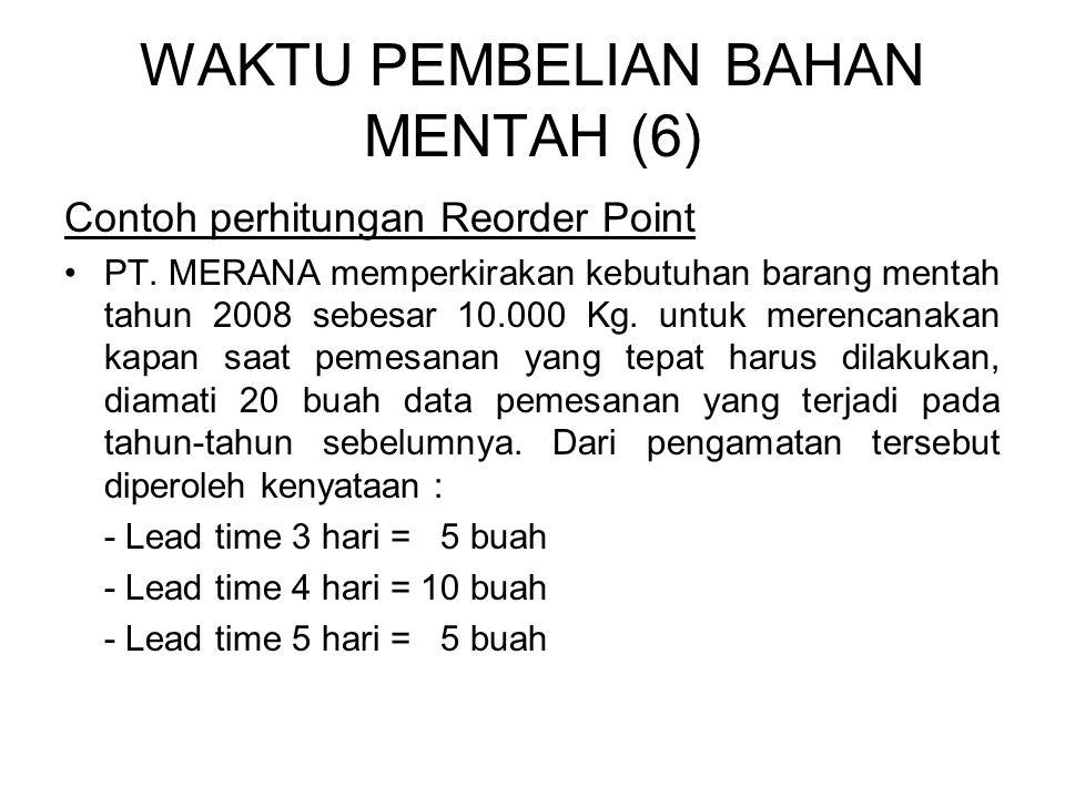 WAKTU PEMBELIAN BAHAN MENTAH (6)