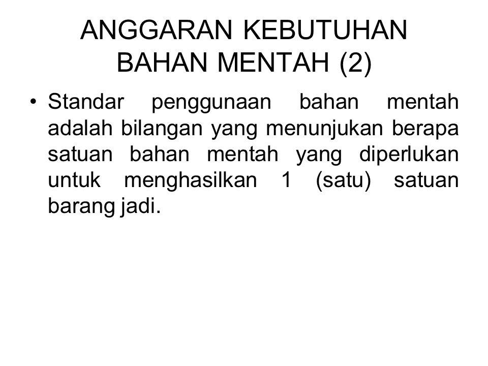 ANGGARAN KEBUTUHAN BAHAN MENTAH (2)