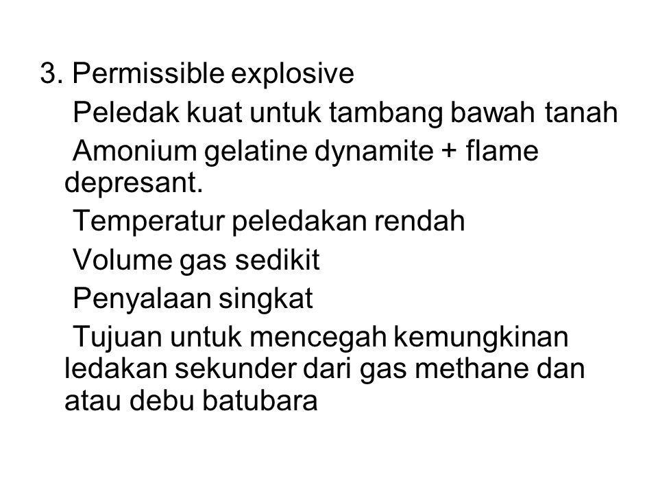 3. Permissible explosive