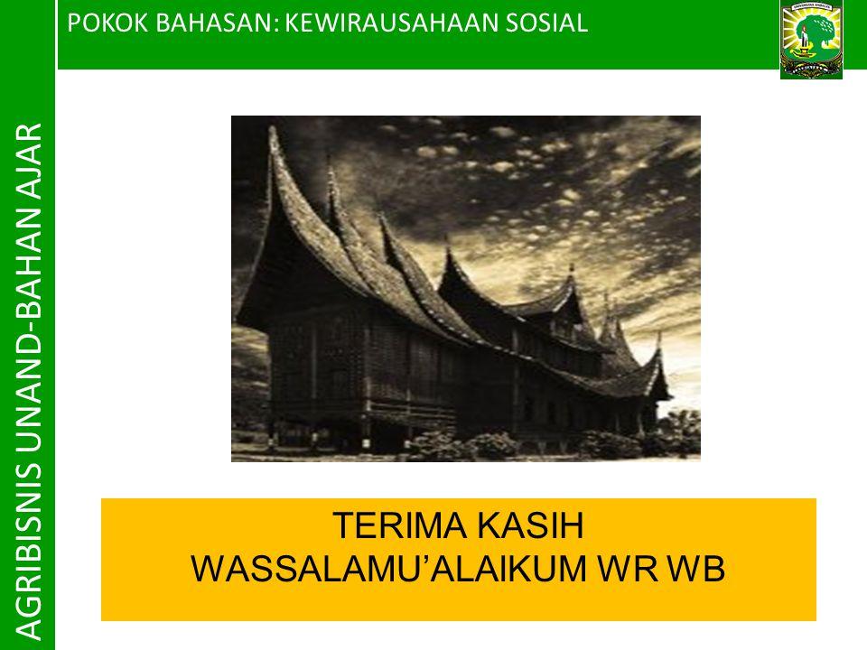 WASSALAMU'ALAIKUM WR WB