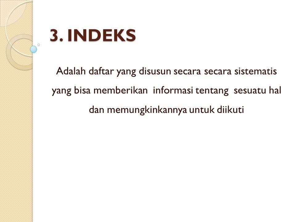 3. INDEKS