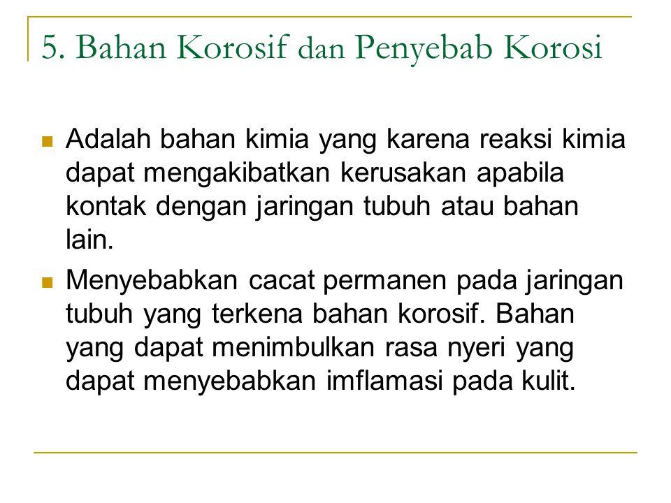 5. Bahan Korosif dan Penyebab Korosi
