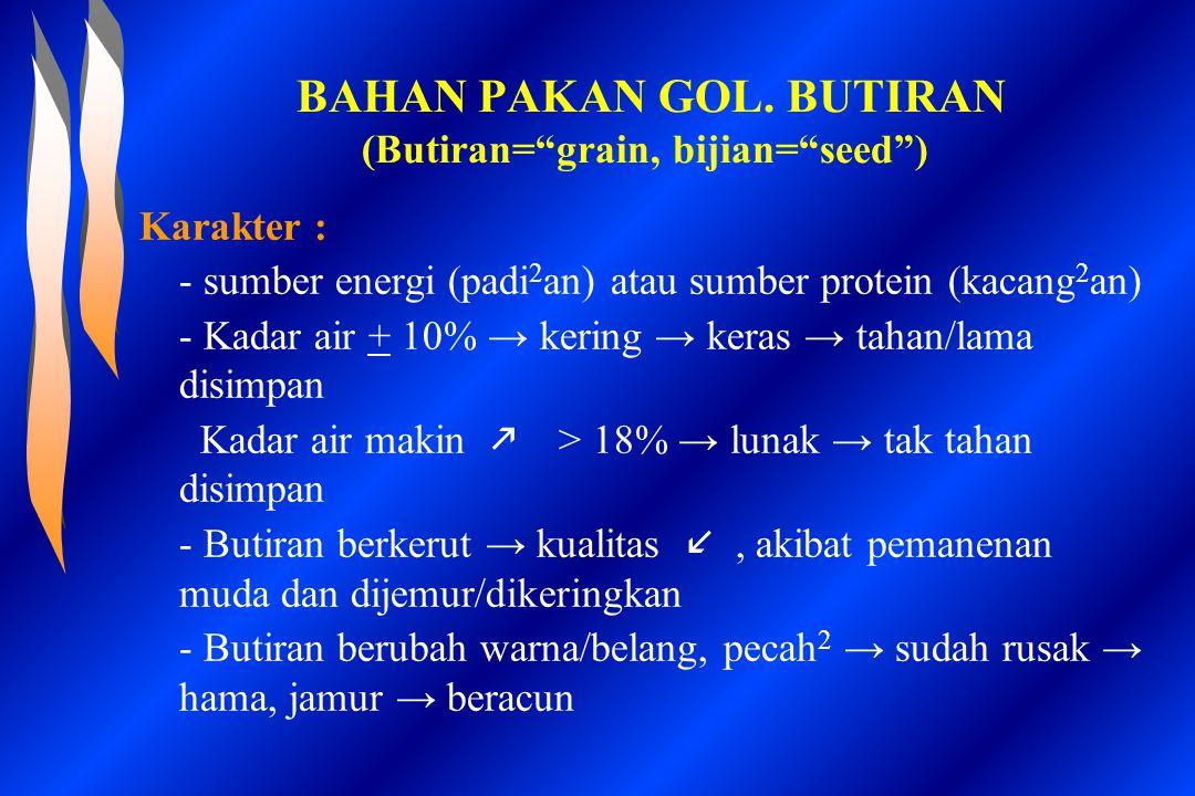 BAHAN PAKAN GOL. BUTIRAN (Butiran= grain, bijian= seed )