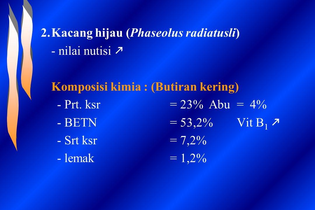 Kacang hijau (Phaseolus radiatusli)