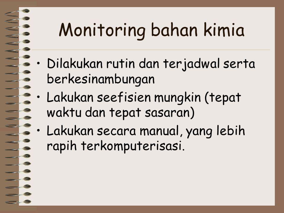 Monitoring bahan kimia