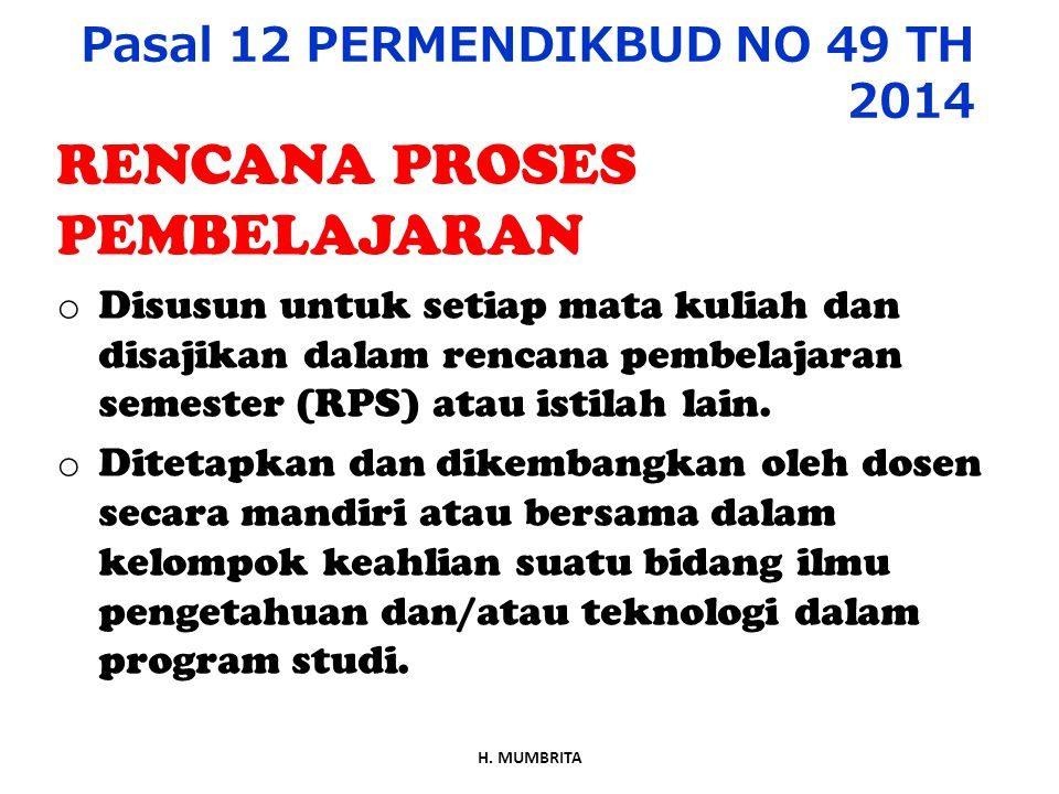 Pasal 12 PERMENDIKBUD NO 49 TH 2014
