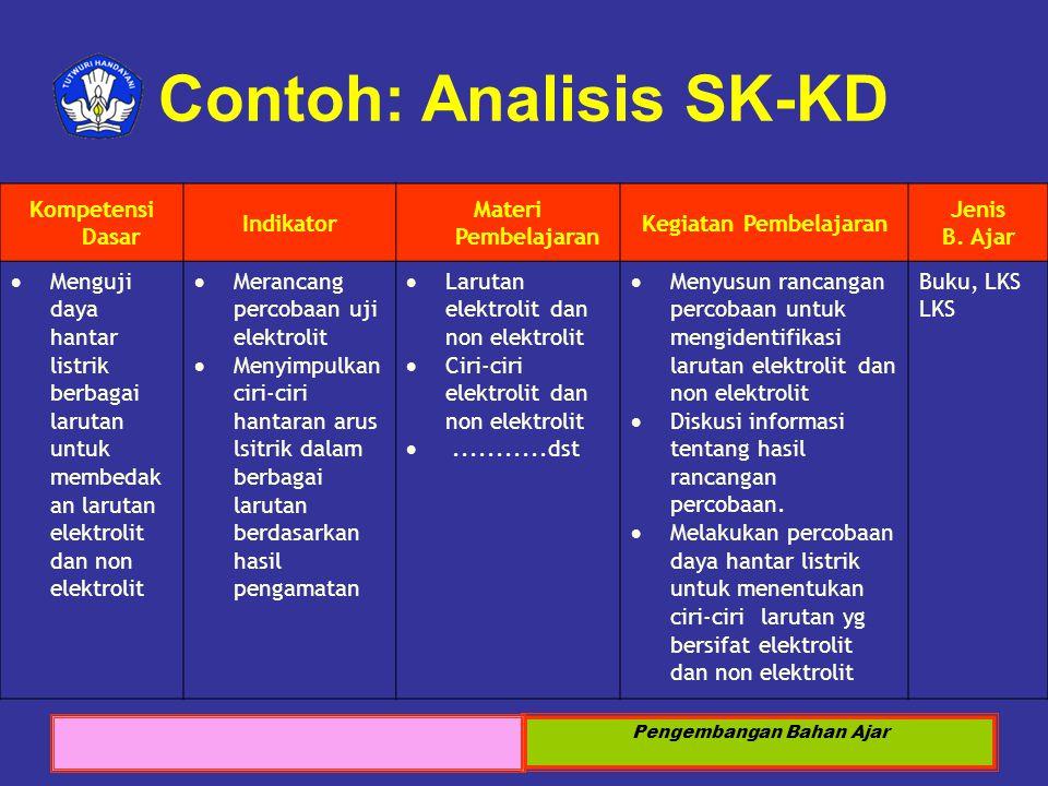 Contoh: Analisis SK-KD
