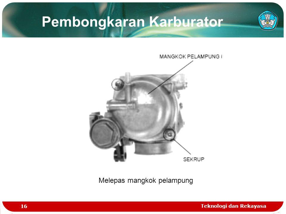Pembongkaran Karburator