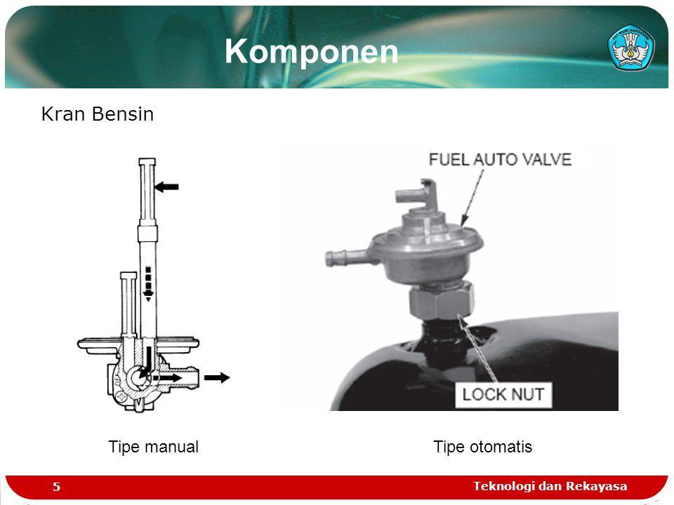 Komponen Kran Bensin Tipe manual Tipe otomatis Teknologi dan Rekayasa