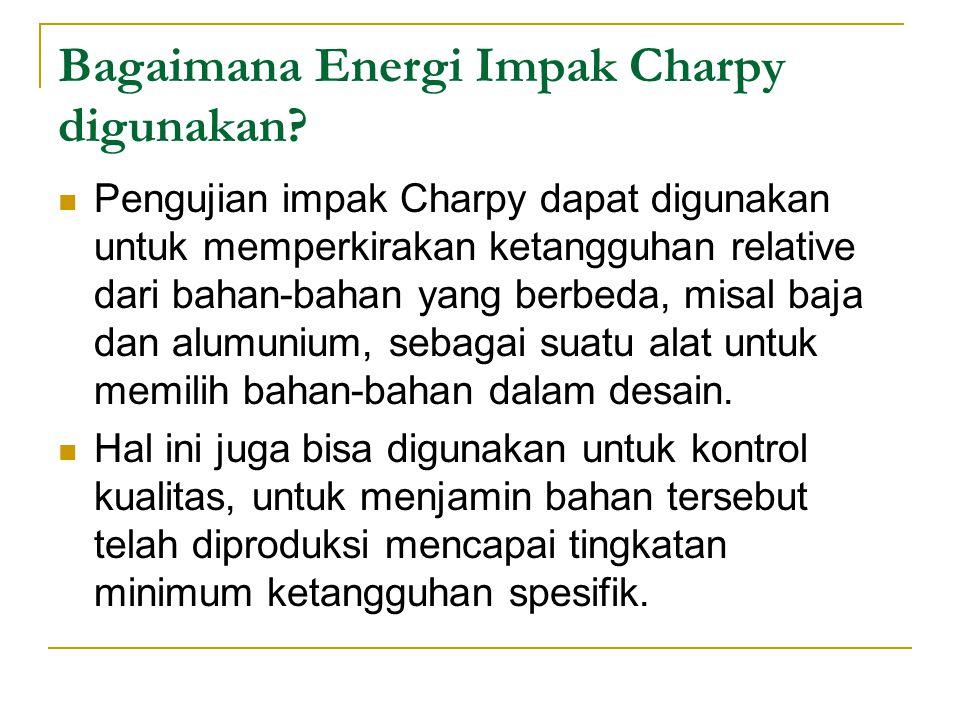Bagaimana Energi Impak Charpy digunakan