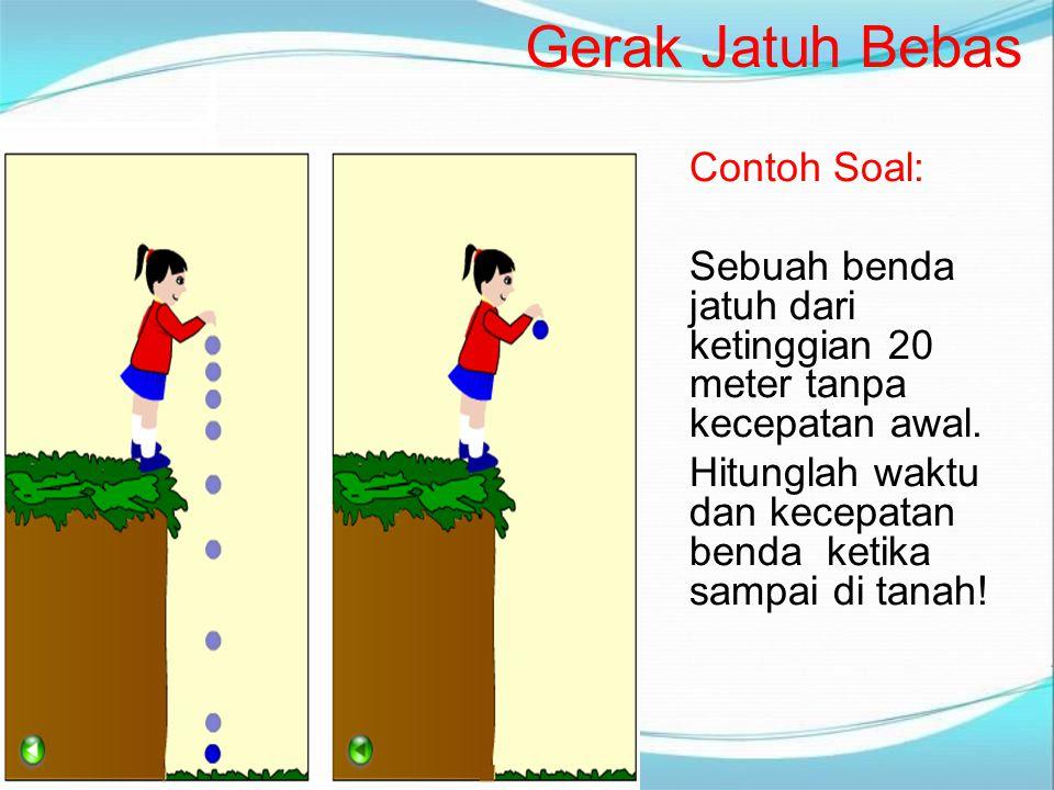 Gerak Jatuh Bebas Contoh Soal: