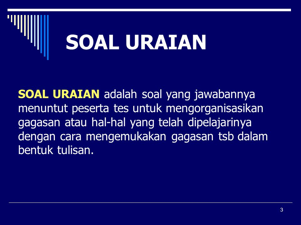 SOAL URAIAN