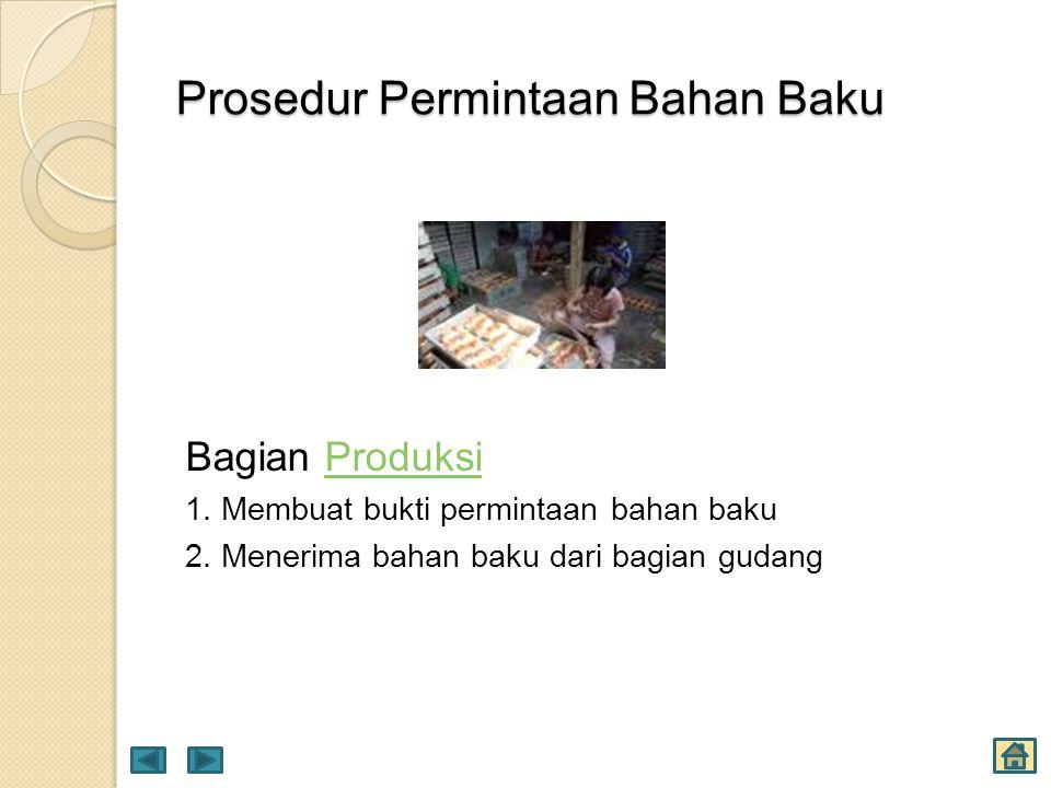 Prosedur Permintaan Bahan Baku