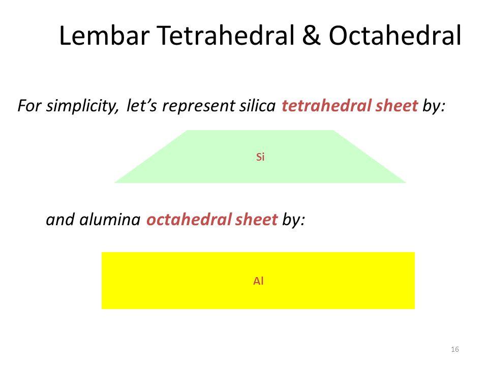 Lembar Tetrahedral & Octahedral