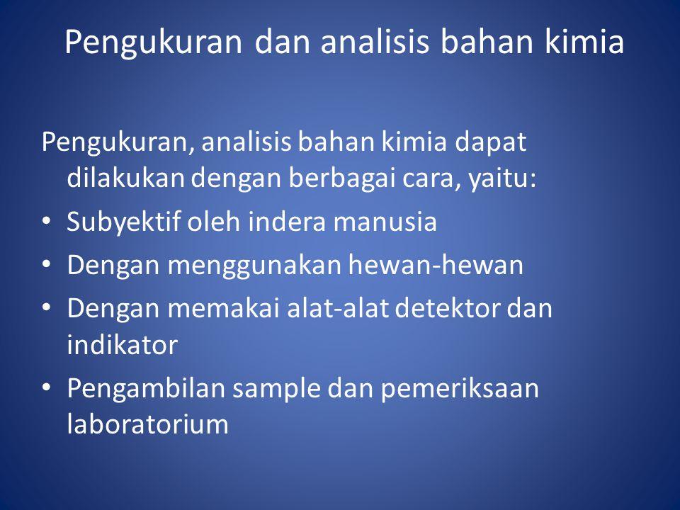 Pengukuran dan analisis bahan kimia