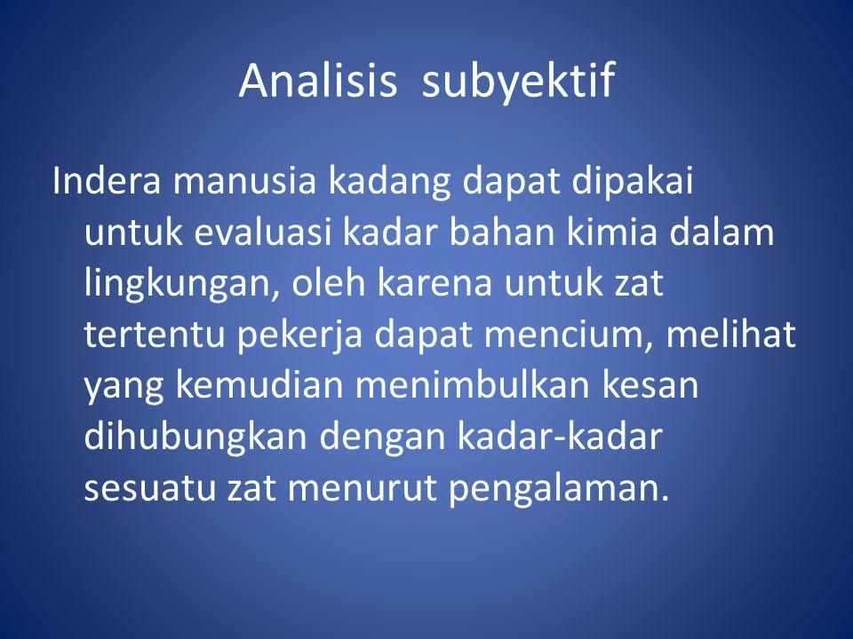 Analisis subyektif