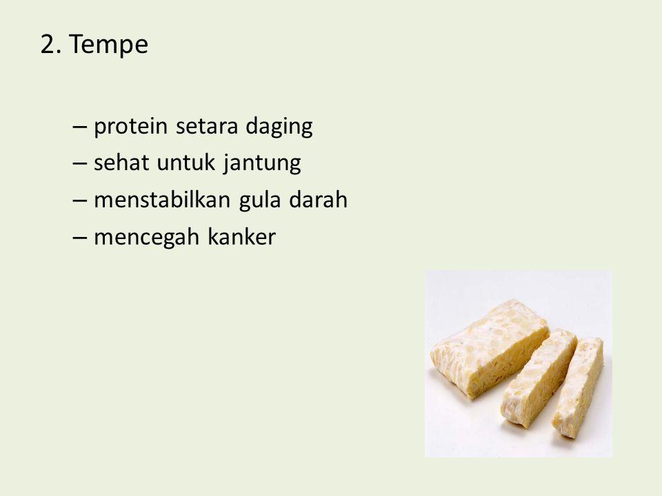 2. Tempe protein setara daging sehat untuk jantung