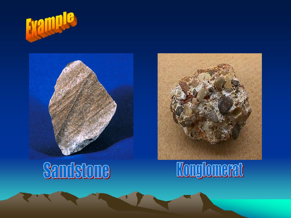 Example Sandstone Konglomerat