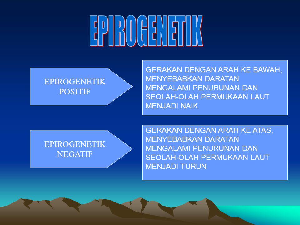 EPIROGENETIK EPIROGENETIK POSITIF EPIROGENETIK NEGATIF
