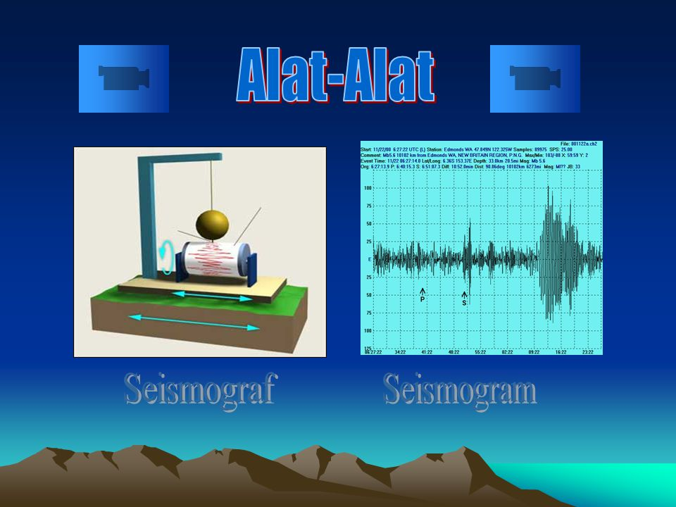 Alat-Alat Seismograf Seismogram